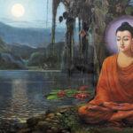 Phật ngồi kiết già dưới cội Bồ đề